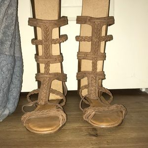 Gladiator Sandals, only worn once!
